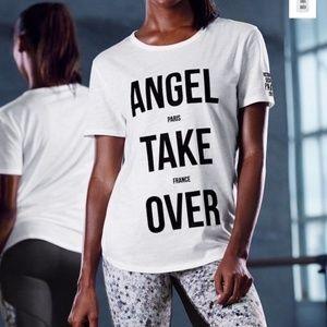 Victorias Secret Angel Take Over White T-Shirt NWT